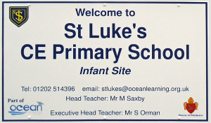 St Lukes Primary School Sign