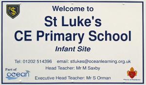 St Lukes Primary School Sign